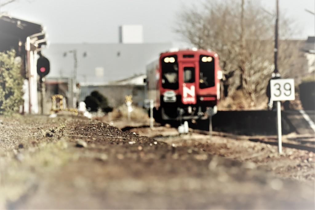 冬の桜木駅